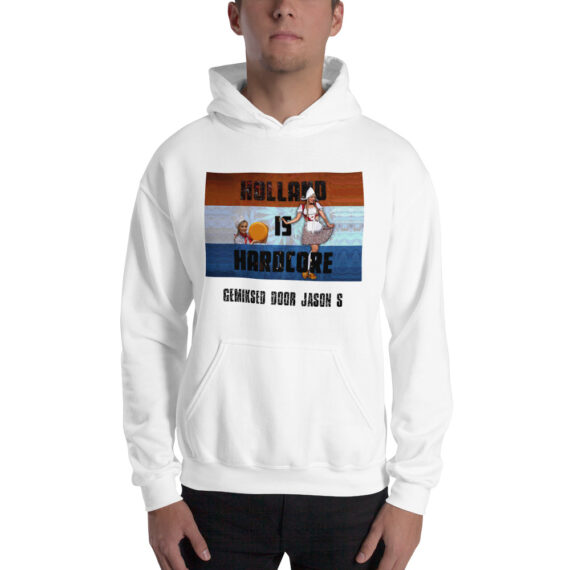 Holland is Hardcore Unisex Hoodie White