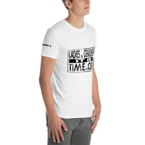 t is Time to Cut Short-Sleeve Unisex T-Shirt White