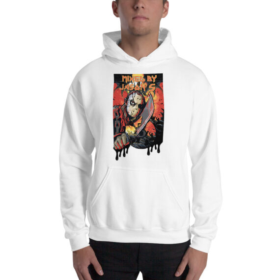 Mixed by Jason S CD on Knife Unisex Hoodie White
